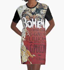 La Boheme Vintage Graphic T-Shirt Dress