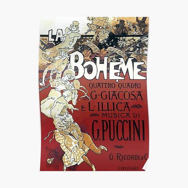 La Boheme Vintage Poster