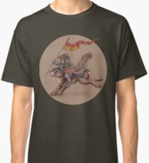 Squirrel in Shining Armor with trusted Bunny Steed  Classic T-Shirt
