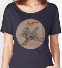 Squirrel in Shining Armor with trusted Bunny Steed  Women's Relaxed Fit T-Shirt