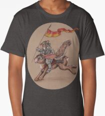 Squirrel in Shining Armor with trusted Bunny Steed  Long T-Shirt