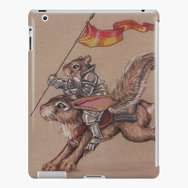 Squirrel in Shining Armor with trusted Bunny Steed  iPad Snap Case