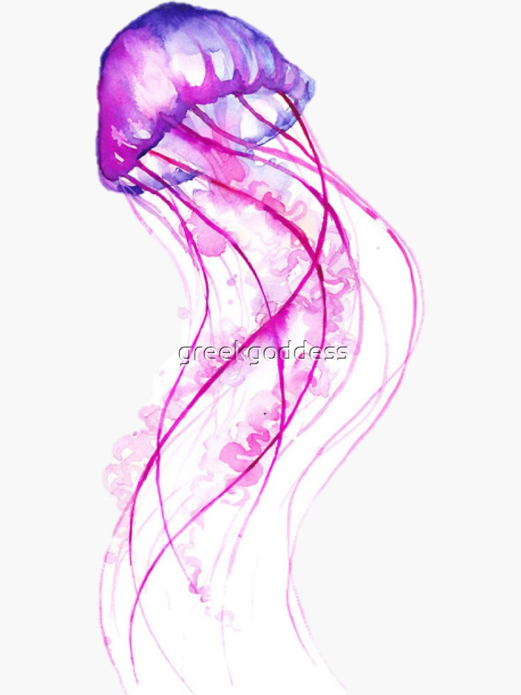 Watercolor Jellyfish by greekgoddess