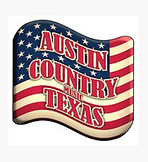 Austin Country Music Texas Wave Shape Photographic Print