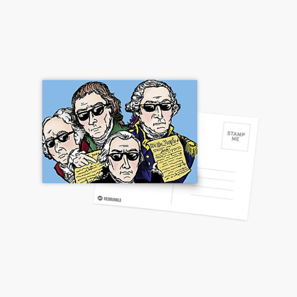 Founding Father Dudes Postcard