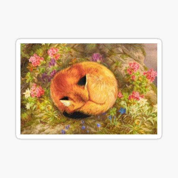 The Cozy Fox Sticker
