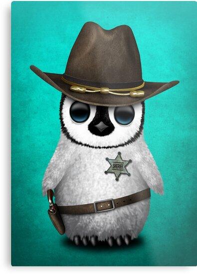 Cute Baby Penguin Sheriff by jeff bartels