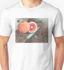 """Quiet in the Kitchen"" Watercolor Painting Design Unisex T-Shirt"