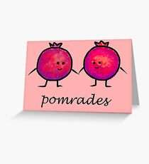 Pomrades Adorable Pomegranate Comrades Greeting Card