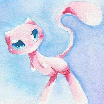 Pokemon watercolor mew by hope30789