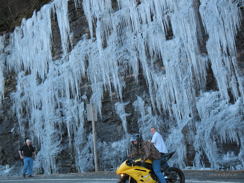 Ice along the mountain road by moondancer