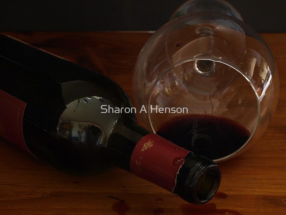 EMPTY WINE BOTTLE by Sharon A. Henson