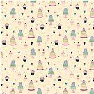 CAKES & CUPCAKES-CREAM by Katie Kinnear