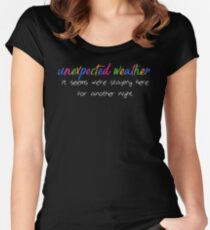 unexpected weather Women's Fitted Scoop T-Shirt