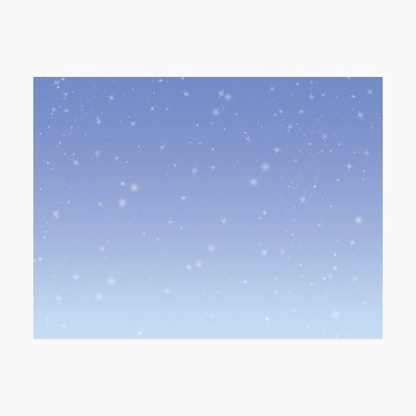 Light Blue Stars Photographic Print