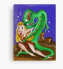 Science Fiction Pulp Damsel Canvas Print
