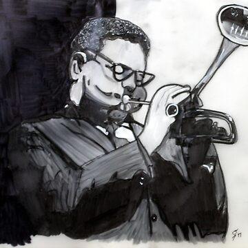Dizzy Gillespie Study by rebeccagalardo