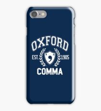 Oxford Comma iPhone Case/Skin