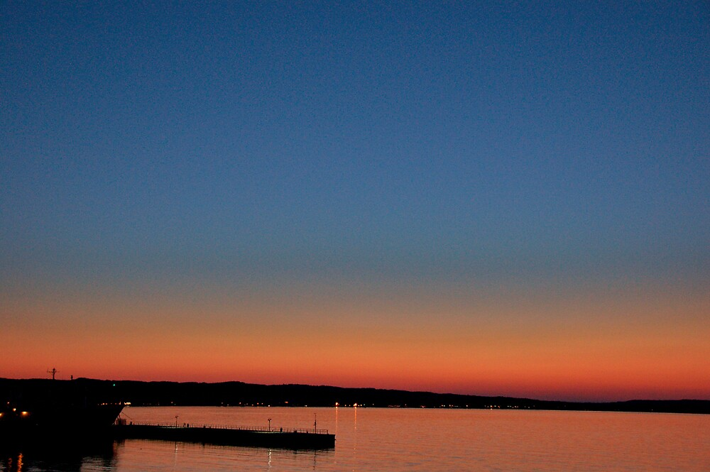 Sunset at Bay Shore Resort in Traverse City, Michigan by Eric Dush