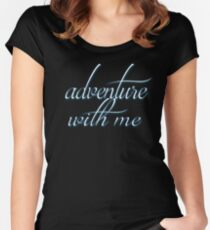 Adventure With Me Cute Dreaming Soft Screen Printed Summer Graphic Gift Tshirt Women's Fitted Scoop T-Shirt