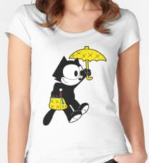 The Magical Black Cat  Women's Fitted Scoop T-Shirt