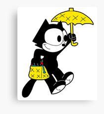 The Magical Black Cat  Canvas Print