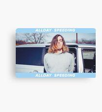 Allday Speeding *White* Canvas Print
