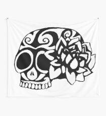 Lotus Skull Wall Tapestry