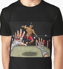 Muay Thai Flying Knee, Losers Point of View Graphic T-Shirt