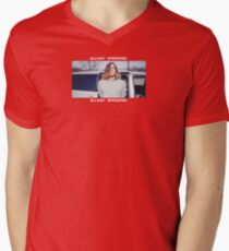Allday Speeding *White* Men's V-Neck T-Shirt