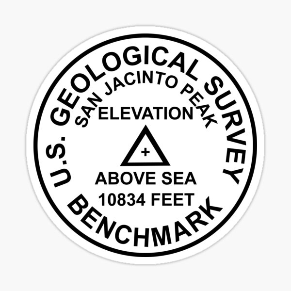 San Jacinto Peak, Kalifornien USGS Style Benchmark Sticker