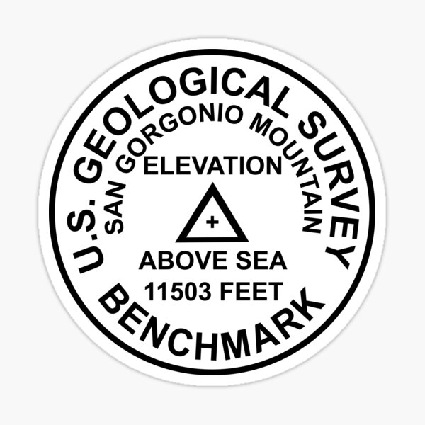 San Gorgonio Berg, Kalifornien USGS Style Benchmark Sticker
