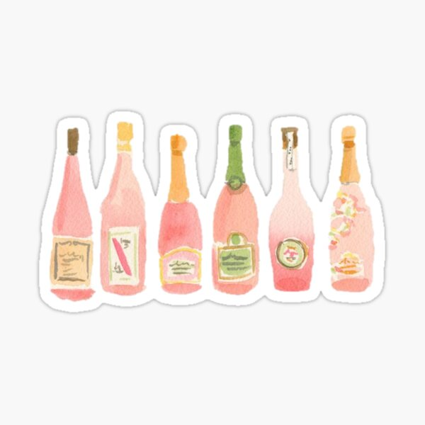 Champagne Rosé Watercolor Sticker