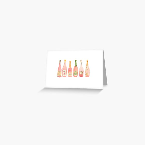 Champagne Rosé Watercolor Greeting Card