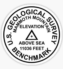 Mammoth Mountain, California USGS Style Benchmark Sticker