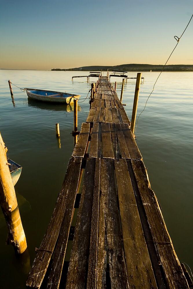 Sunset jetty #2 by Csaba Jekkel