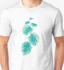 Leaves Teal Unisex T-Shirt
