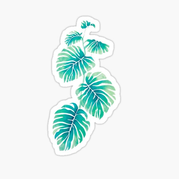 Tropical Leaf Stickers Redbubble