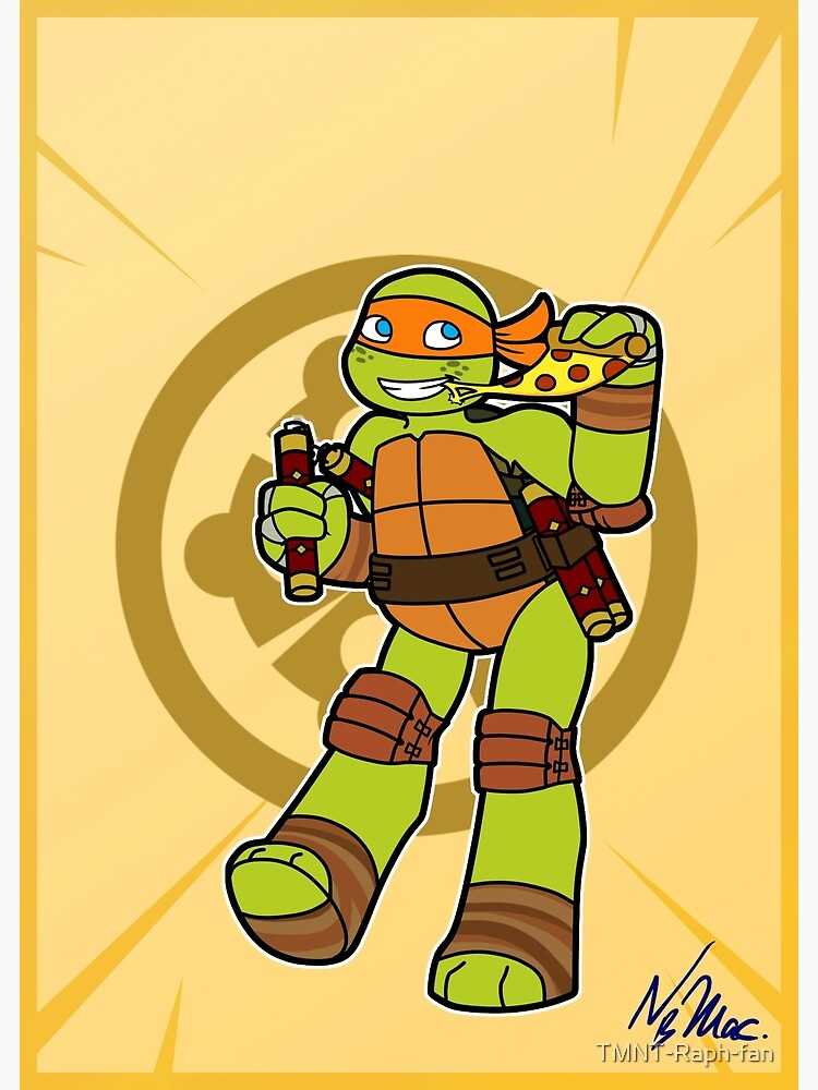 Tmnt 2012 Mikey Greeting Card By Tmnt Raph Fan Redbubble