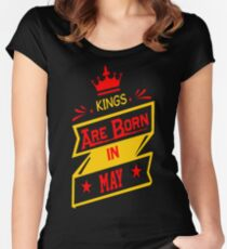 Kings Are Born In May Tshirt T-Shirt  Women's Fitted Scoop T-Shirt