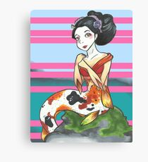 Geisha Merfolk Canvas Print