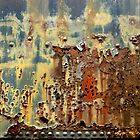Weathered Box Car  by Elaine Bawden