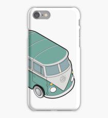 Mini VW Bus - Retro Green iPhone Case/Skin