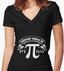 Everyday Should Be PI Day Shirt Women's Fitted V-Neck T-Shirt