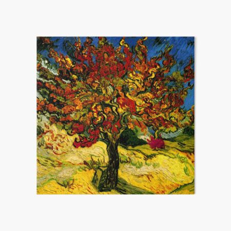 Van Gogh Mulberry Tree Art Board Print