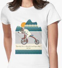 Bull Terrier Dog Tricycle Riding Womens Fitted T-Shirt