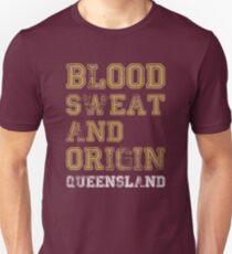 Blood Sweat and Origin - QLD Unisex T-Shirt