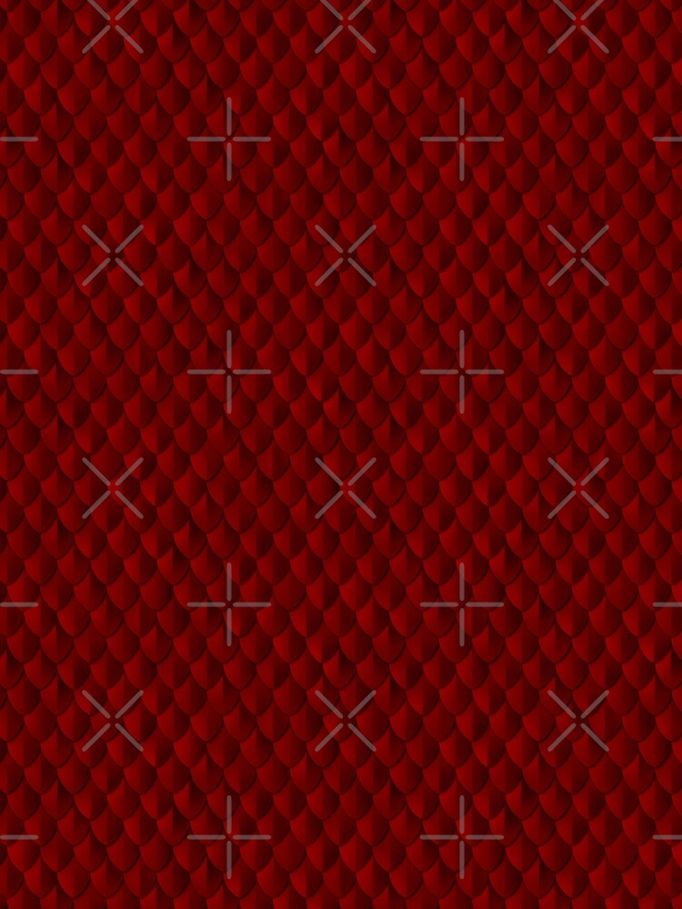 Armor Dragon Scales Pattern - Blood Red by wickedrefined