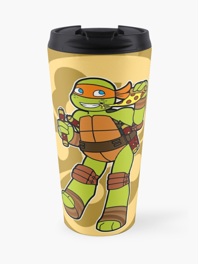 Tmnt 2012 Mikey Travel Mug By Tmnt Raph Fan Redbubble