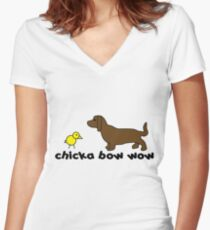 Chika bow wow Women's Fitted V-Neck T-Shirt